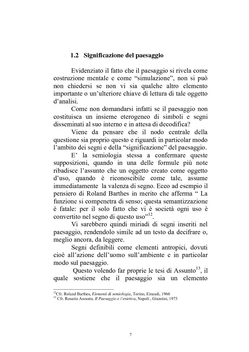 Anteprima della tesi: Il paesaggio diverso nel cinema italiano degli anni novanta. Prospettive, regionalismi e differenti visioni, Pagina 10