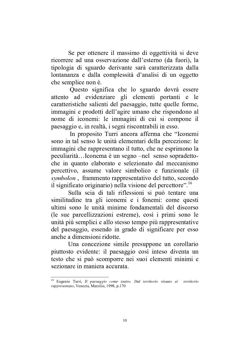 Anteprima della tesi: Il paesaggio diverso nel cinema italiano degli anni novanta. Prospettive, regionalismi e differenti visioni, Pagina 13