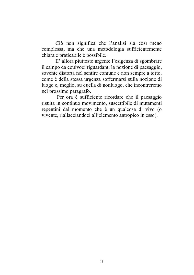 Anteprima della tesi: Il paesaggio diverso nel cinema italiano degli anni novanta. Prospettive, regionalismi e differenti visioni, Pagina 14