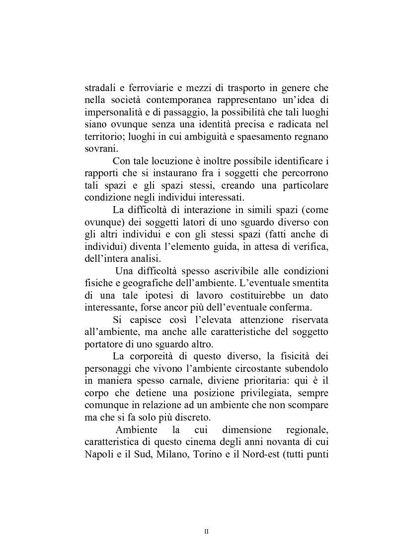 Anteprima della tesi: Il paesaggio diverso nel cinema italiano degli anni novanta. Prospettive, regionalismi e differenti visioni, Pagina 2