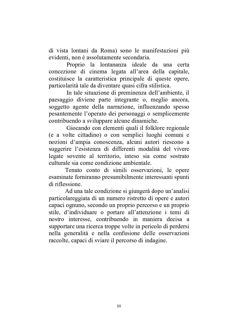 Anteprima della tesi: Il paesaggio diverso nel cinema italiano degli anni novanta. Prospettive, regionalismi e differenti visioni, Pagina 3