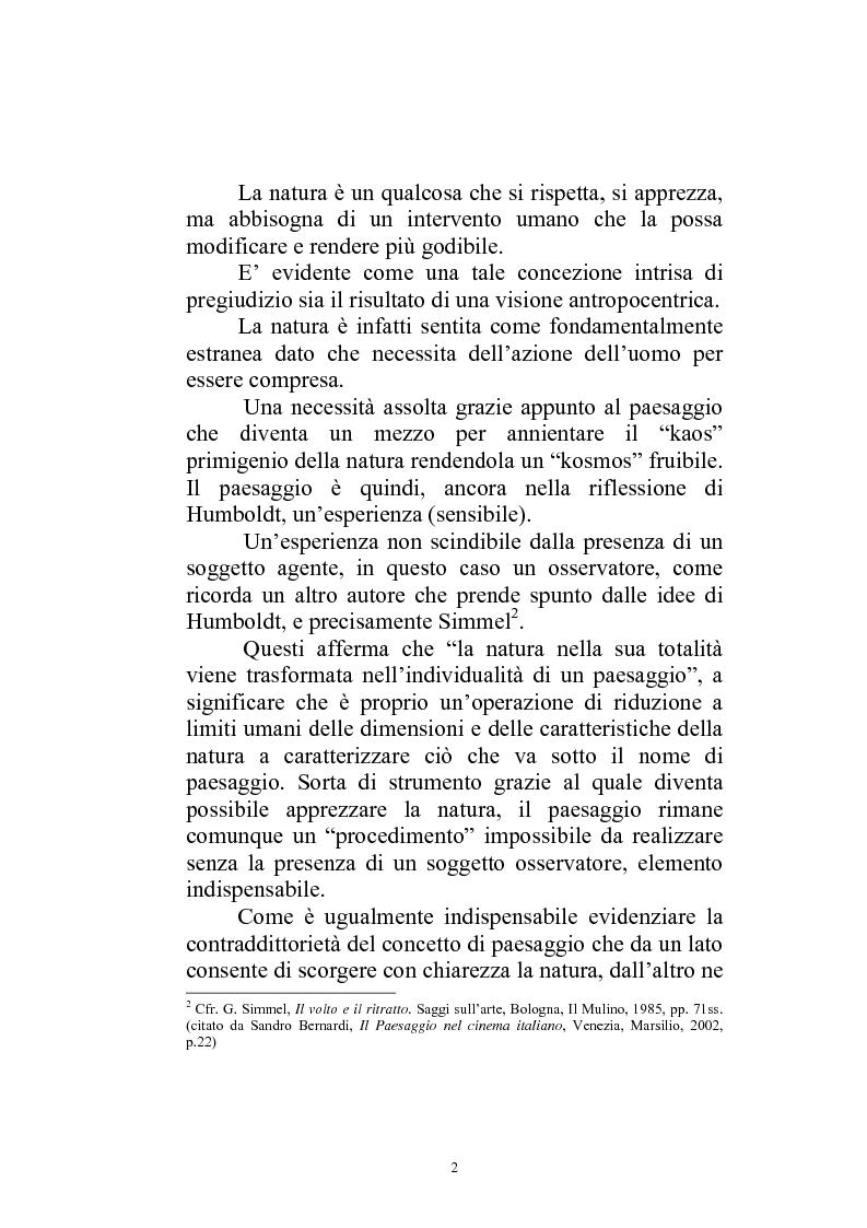 Anteprima della tesi: Il paesaggio diverso nel cinema italiano degli anni novanta. Prospettive, regionalismi e differenti visioni, Pagina 5