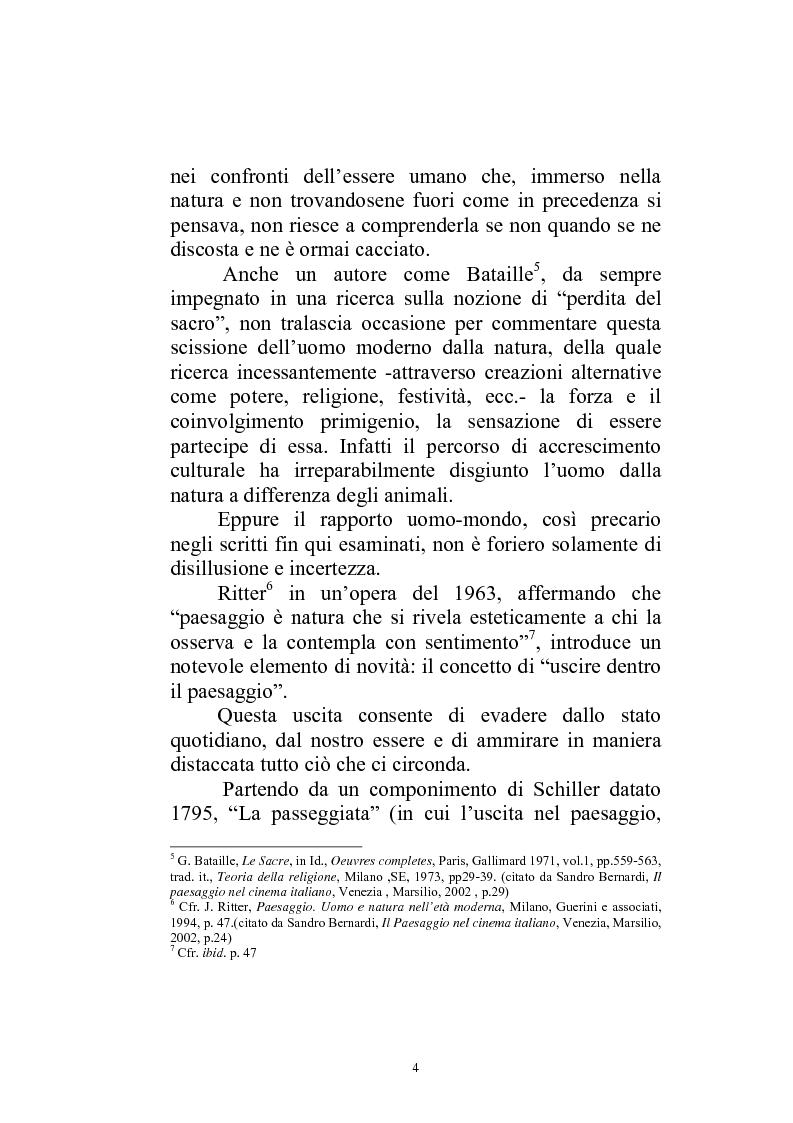 Anteprima della tesi: Il paesaggio diverso nel cinema italiano degli anni novanta. Prospettive, regionalismi e differenti visioni, Pagina 7