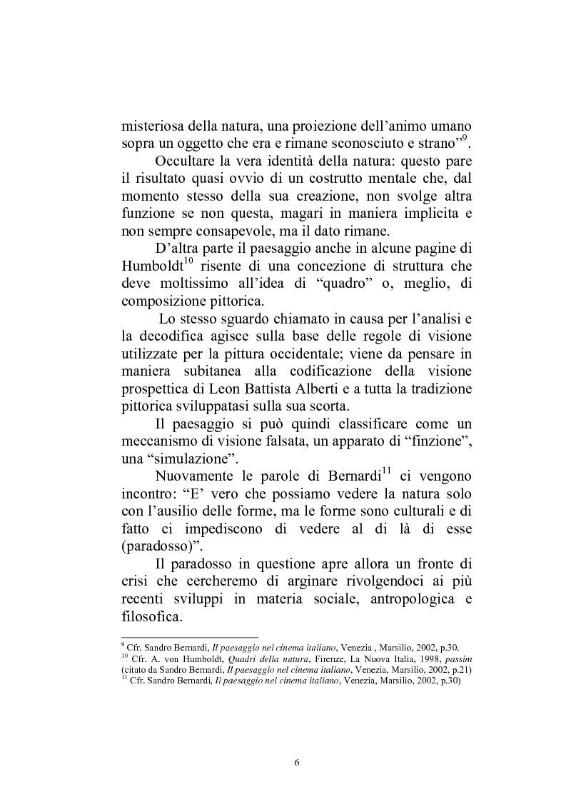 Anteprima della tesi: Il paesaggio diverso nel cinema italiano degli anni novanta. Prospettive, regionalismi e differenti visioni, Pagina 9
