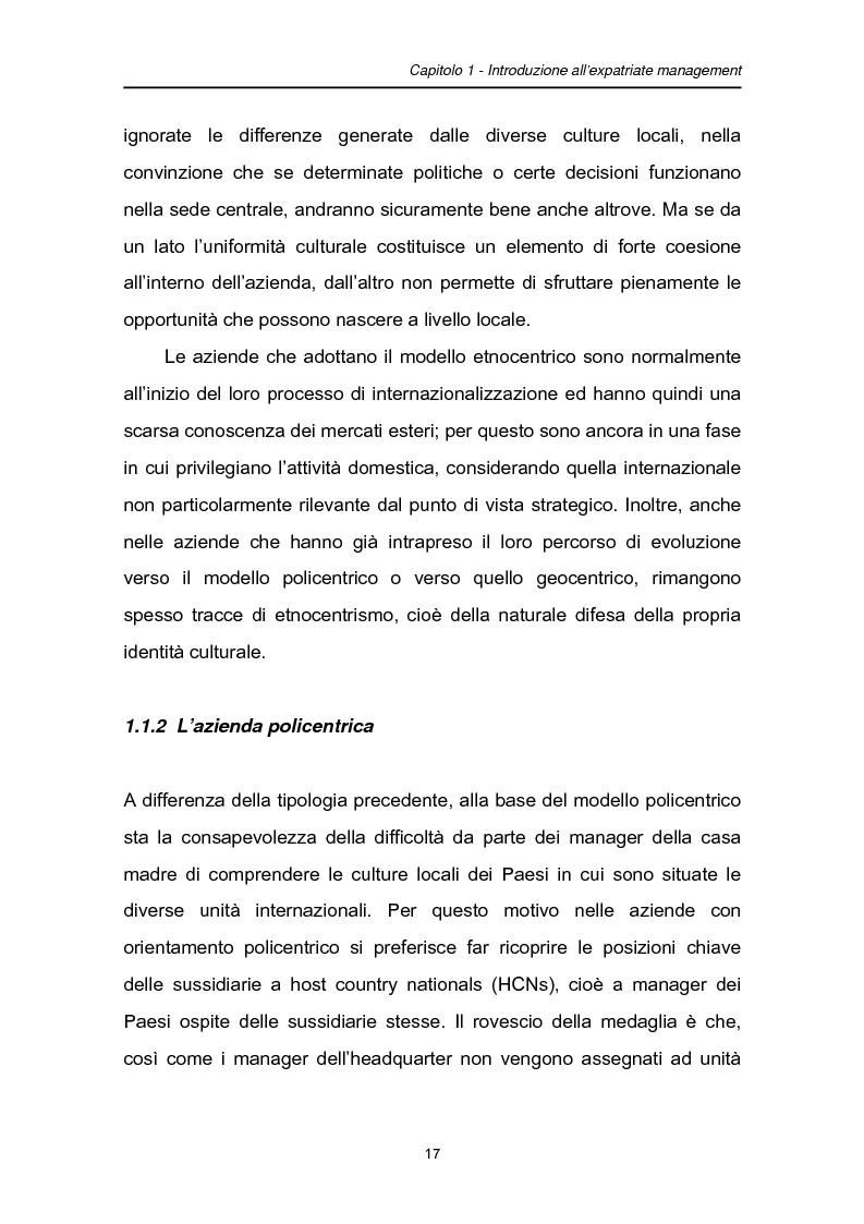 Anteprima della tesi: Una fase critica dell'expatriate management: il rientro, Pagina 12