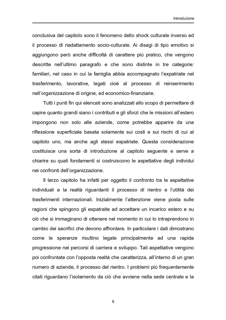Anteprima della tesi: Una fase critica dell'expatriate management: il rientro, Pagina 4