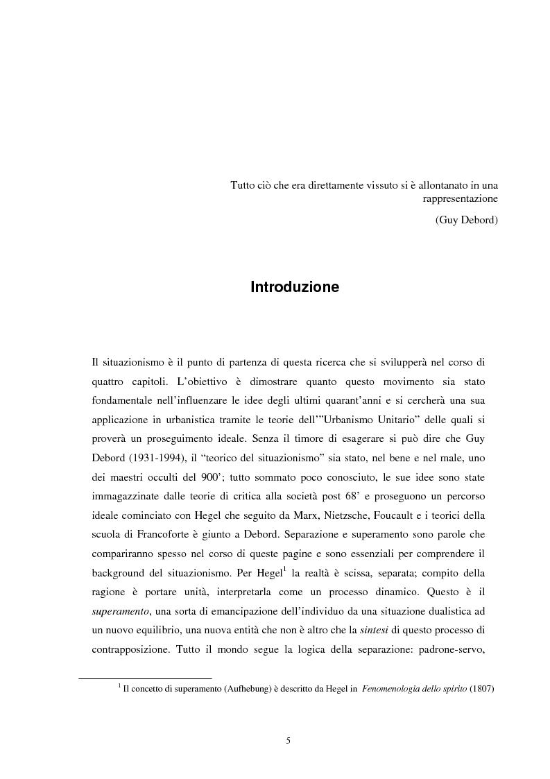 Anteprima della tesi: Situazionismo e critica urbana: esperienze di partecipazione sociale sul territorio, Pagina 1