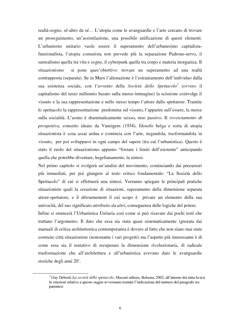 Anteprima della tesi: Situazionismo e critica urbana: esperienze di partecipazione sociale sul territorio, Pagina 2