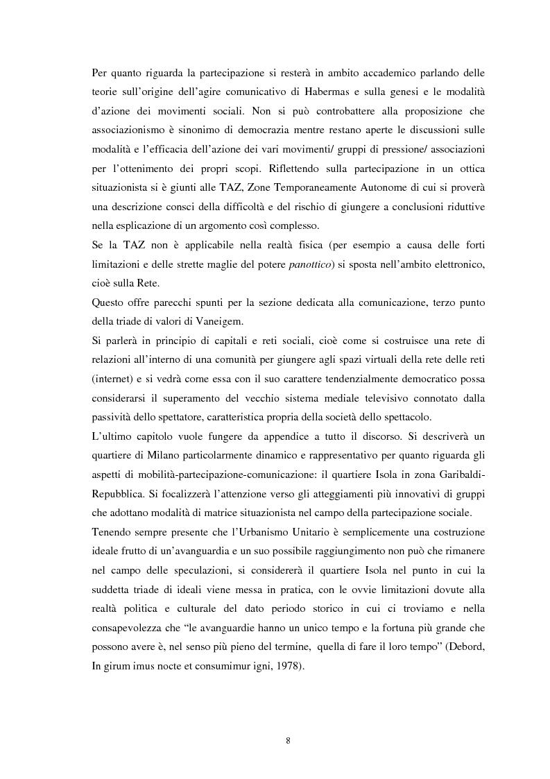 Anteprima della tesi: Situazionismo e critica urbana: esperienze di partecipazione sociale sul territorio, Pagina 4