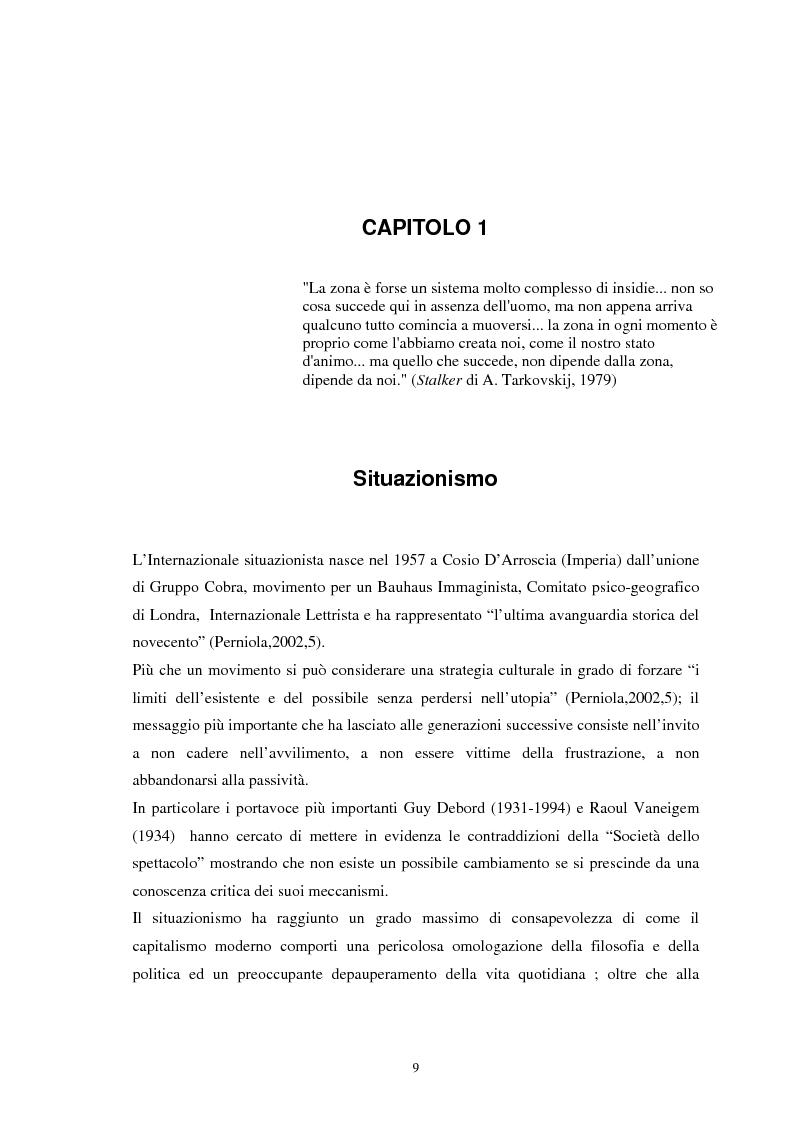 Anteprima della tesi: Situazionismo e critica urbana: esperienze di partecipazione sociale sul territorio, Pagina 5