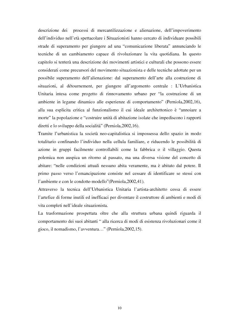 Anteprima della tesi: Situazionismo e critica urbana: esperienze di partecipazione sociale sul territorio, Pagina 6
