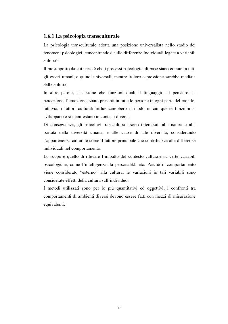 Anteprima della tesi: Emozioni e cultura nelle idee di insegnanti di scuola materna italiane e spagnole, Pagina 13