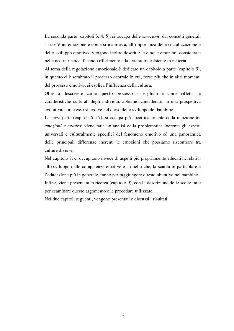 Anteprima della tesi: Emozioni e cultura nelle idee di insegnanti di scuola materna italiane e spagnole, Pagina 2