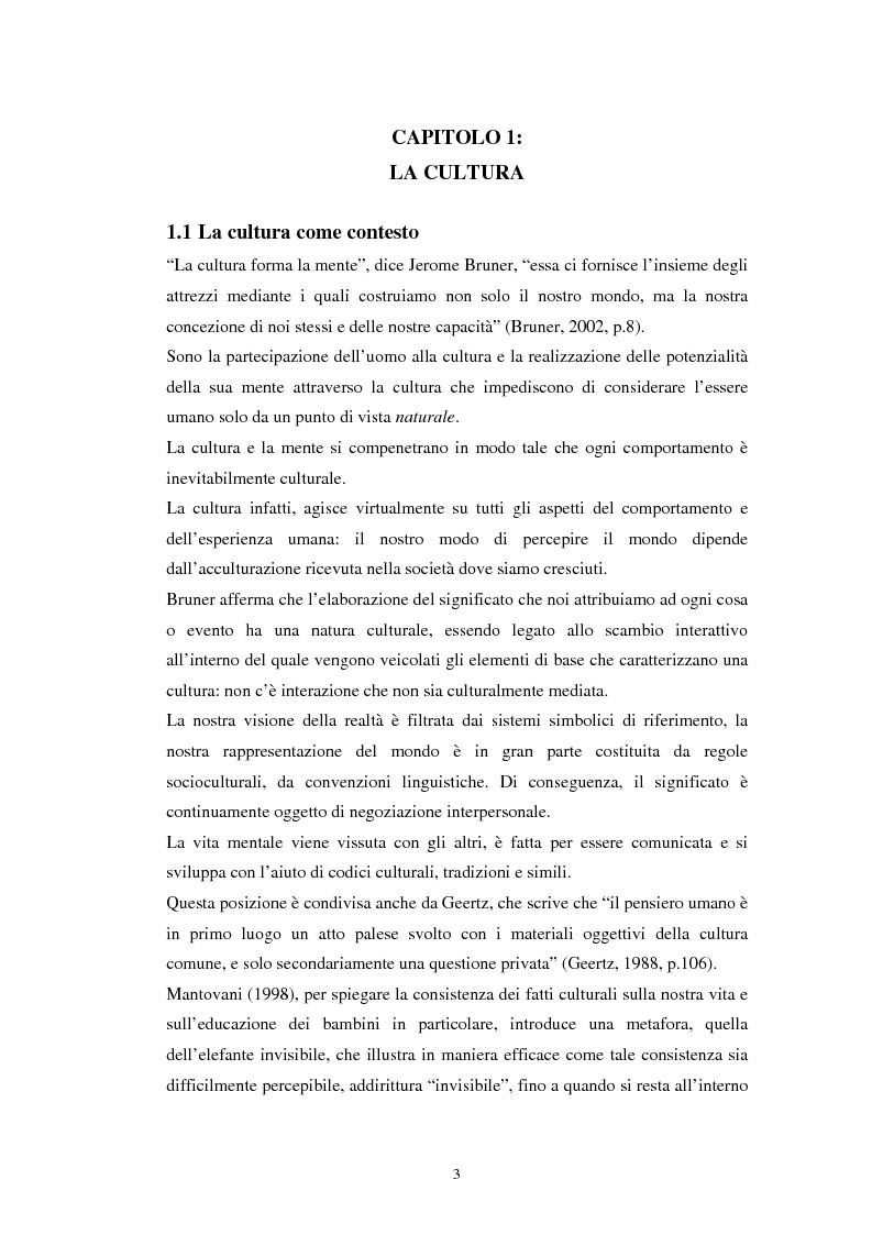 Anteprima della tesi: Emozioni e cultura nelle idee di insegnanti di scuola materna italiane e spagnole, Pagina 3