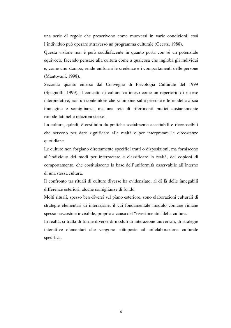 Anteprima della tesi: Emozioni e cultura nelle idee di insegnanti di scuola materna italiane e spagnole, Pagina 6