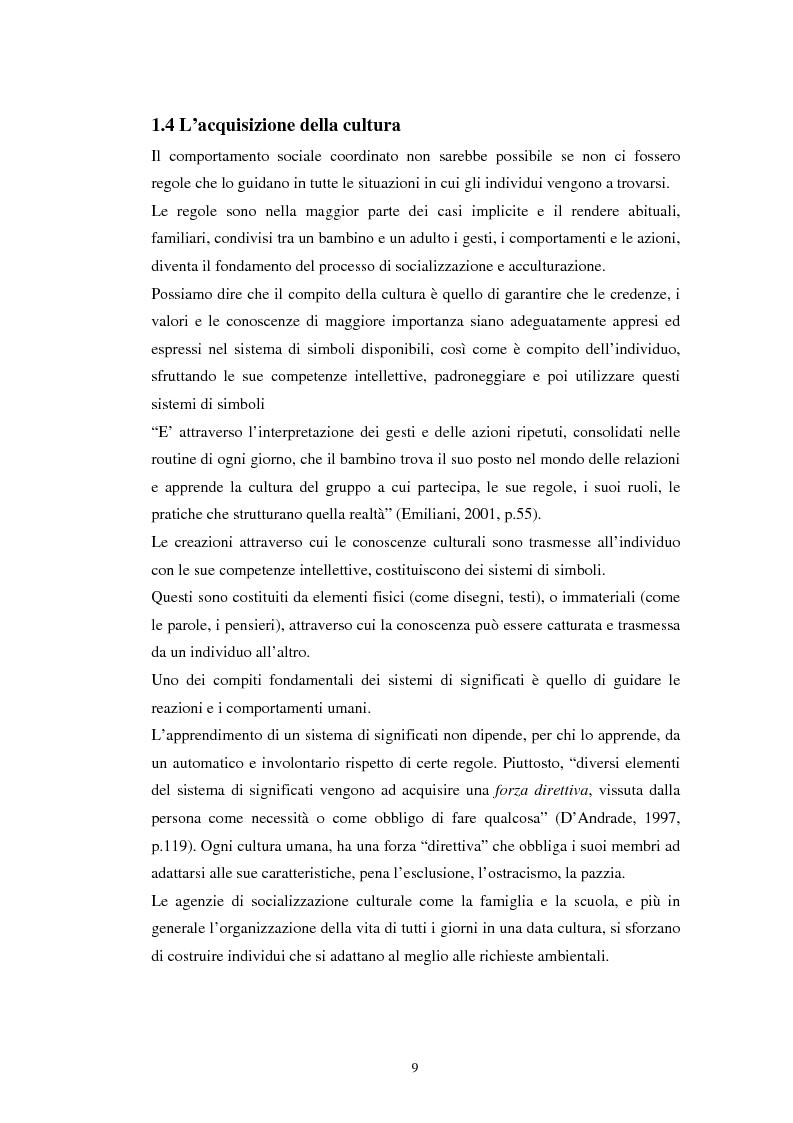 Anteprima della tesi: Emozioni e cultura nelle idee di insegnanti di scuola materna italiane e spagnole, Pagina 9