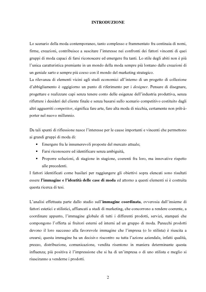 Anteprima della tesi: Moda tra immagine ed identità, Pagina 1