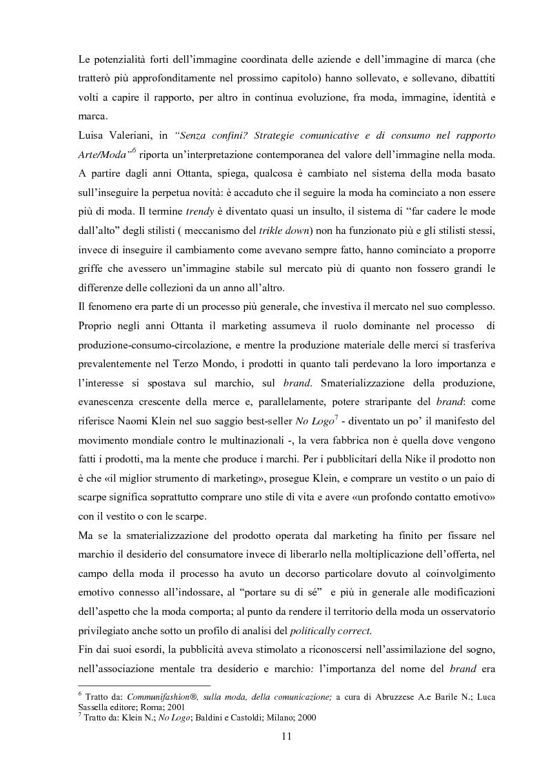 Anteprima della tesi: Moda tra immagine ed identità, Pagina 10