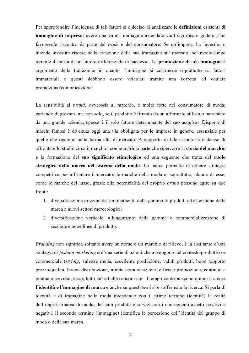 Anteprima della tesi: Moda tra immagine ed identità, Pagina 2