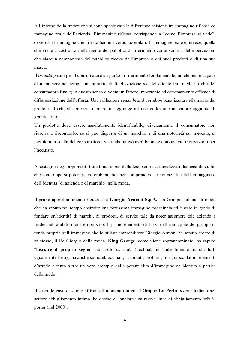 Anteprima della tesi: Moda tra immagine ed identità, Pagina 3