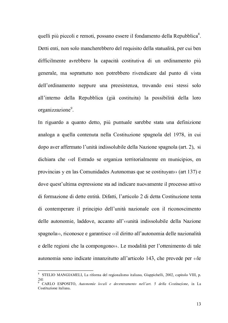 Anteprima della tesi: Il potere statutario degli enti locali alla luce delle novità introdotte dalla riforma del Titolo V della Costituzione., Pagina 11