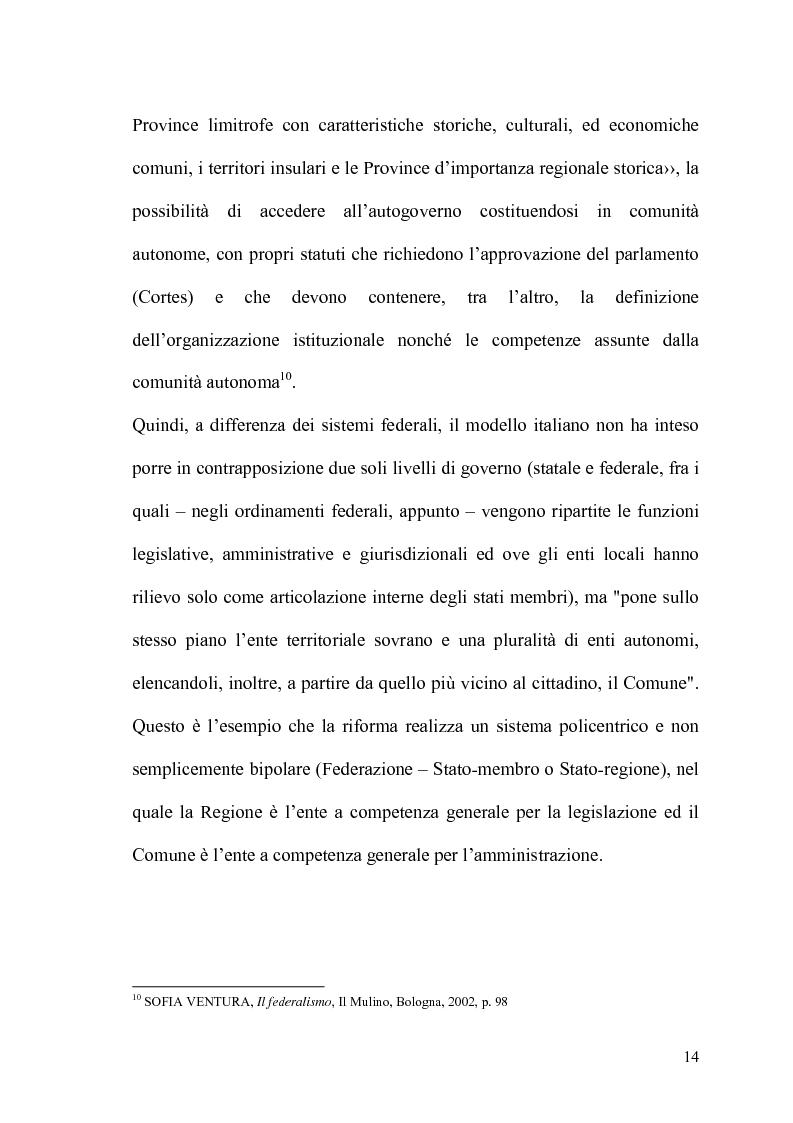 Anteprima della tesi: Il potere statutario degli enti locali alla luce delle novità introdotte dalla riforma del Titolo V della Costituzione., Pagina 12
