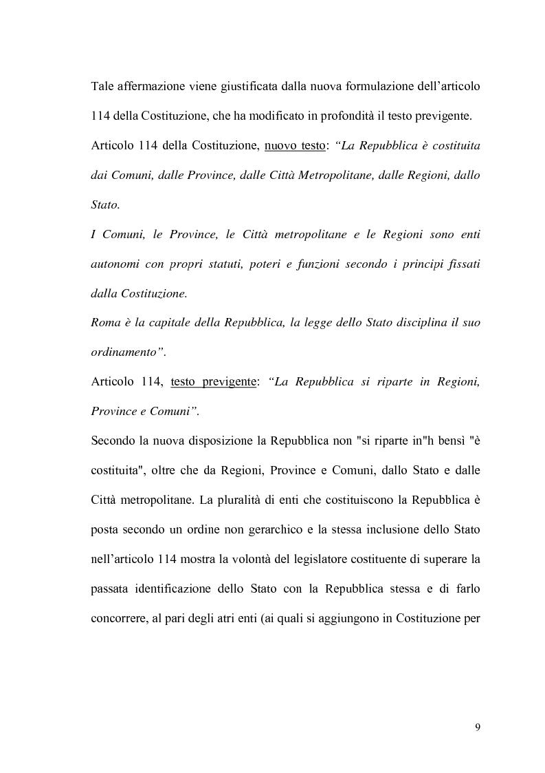 Anteprima della tesi: Il potere statutario degli enti locali alla luce delle novità introdotte dalla riforma del Titolo V della Costituzione., Pagina 7