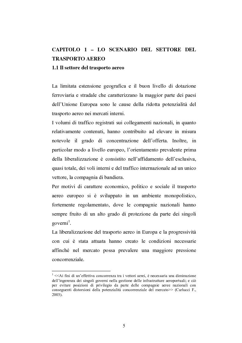 Anteprima della tesi: La ristrutturazione del Gruppo Alitalia, Pagina 3