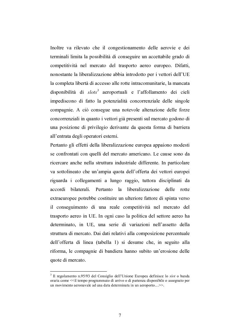 Anteprima della tesi: La ristrutturazione del Gruppo Alitalia, Pagina 5