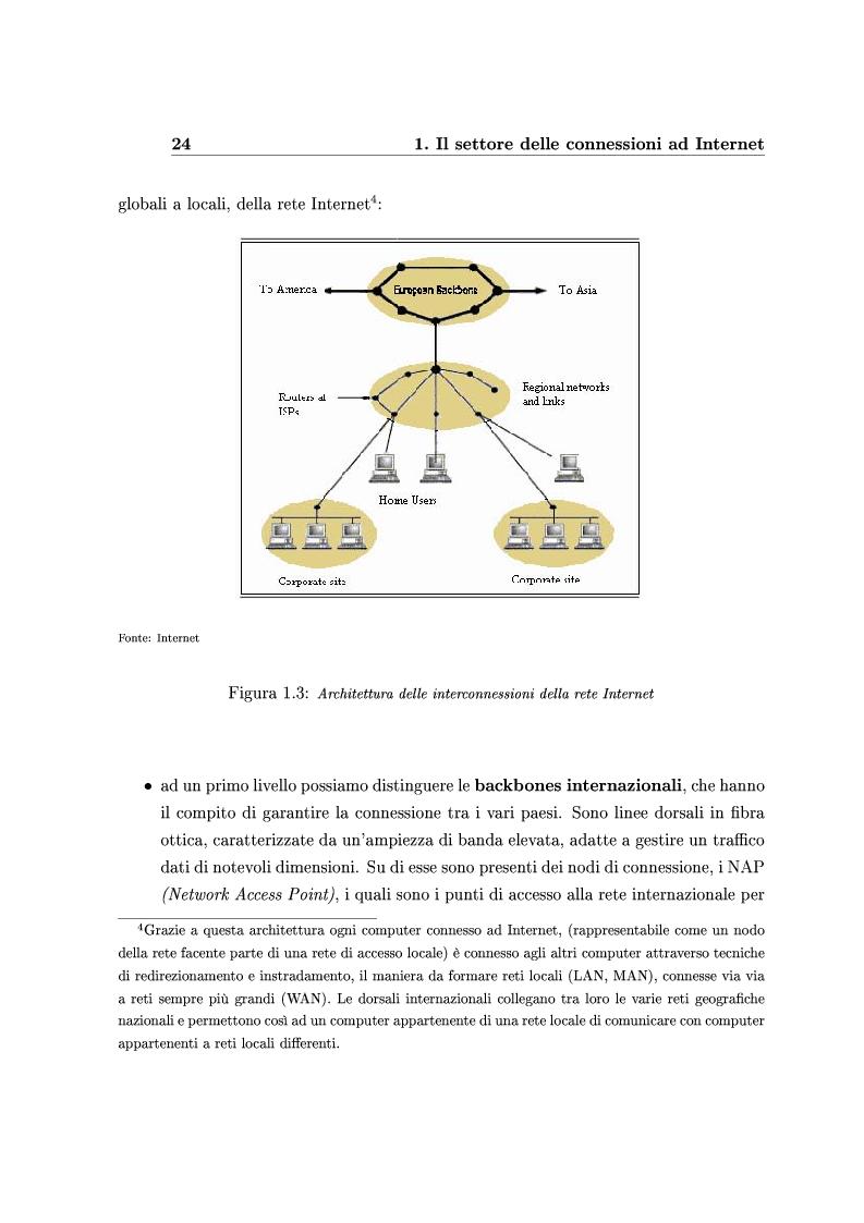 Anteprima della tesi: Le Strategie competitive degli ISP nel BroadBand nella fase di consolidamento del mercato. Un'analisi di scenario, Pagina 13