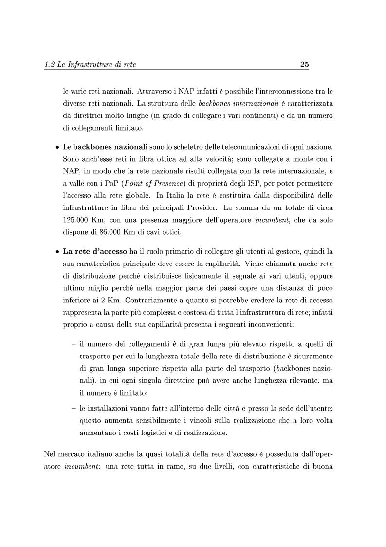 Anteprima della tesi: Le Strategie competitive degli ISP nel BroadBand nella fase di consolidamento del mercato. Un'analisi di scenario, Pagina 14