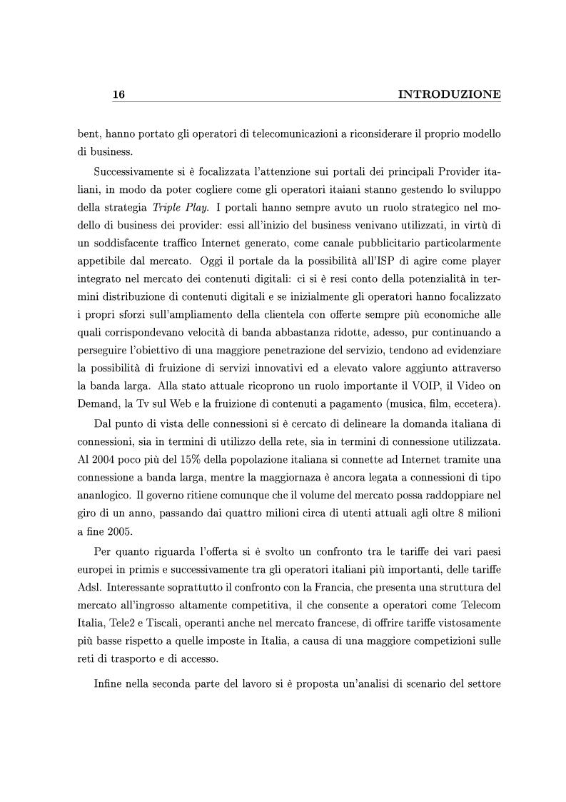 Anteprima della tesi: Le Strategie competitive degli ISP nel BroadBand nella fase di consolidamento del mercato. Un'analisi di scenario, Pagina 6