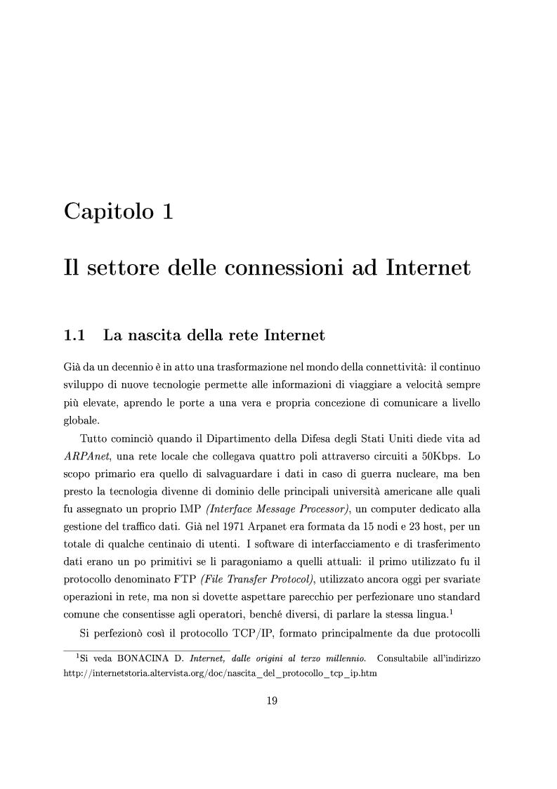 Anteprima della tesi: Le Strategie competitive degli ISP nel BroadBand nella fase di consolidamento del mercato. Un'analisi di scenario, Pagina 8