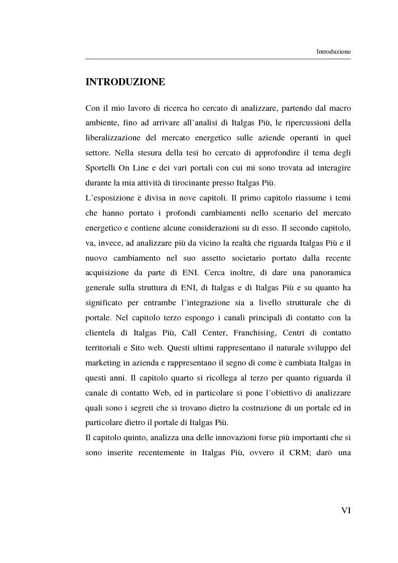 Anteprima della tesi: Analisi strategica di un ente di public utilities: Il caso Italgas Più, Pagina 1