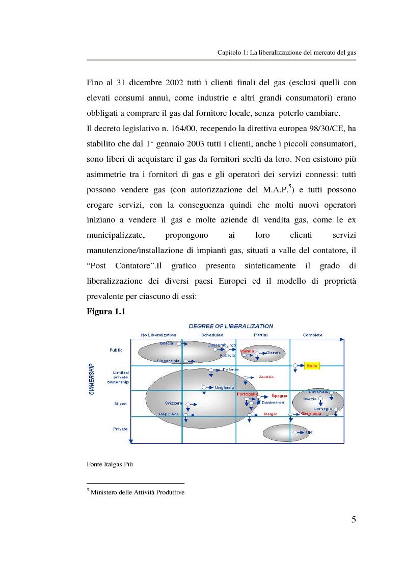 Anteprima della tesi: Analisi strategica di un ente di public utilities: Il caso Italgas Più, Pagina 8