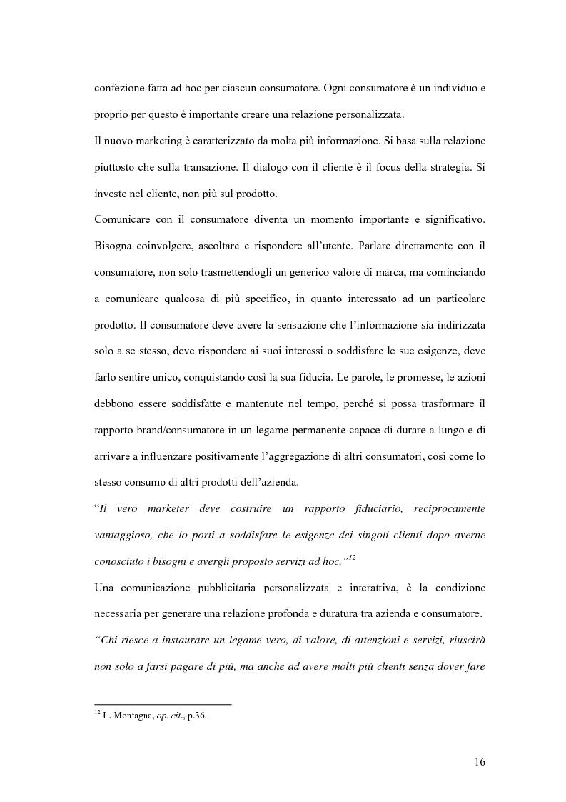 Anteprima della tesi: Nuove forme di comunicazione pubblicitaria su mezzi non tradizionali, Pagina 13