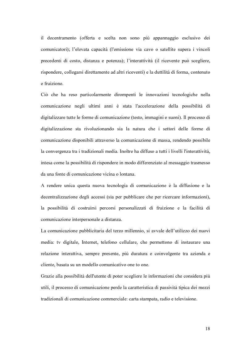 Anteprima della tesi: Nuove forme di comunicazione pubblicitaria su mezzi non tradizionali, Pagina 15