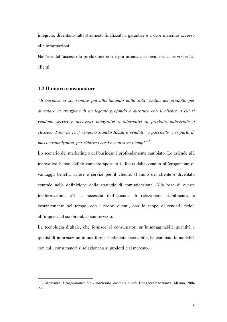 Anteprima della tesi: Nuove forme di comunicazione pubblicitaria su mezzi non tradizionali, Pagina 5