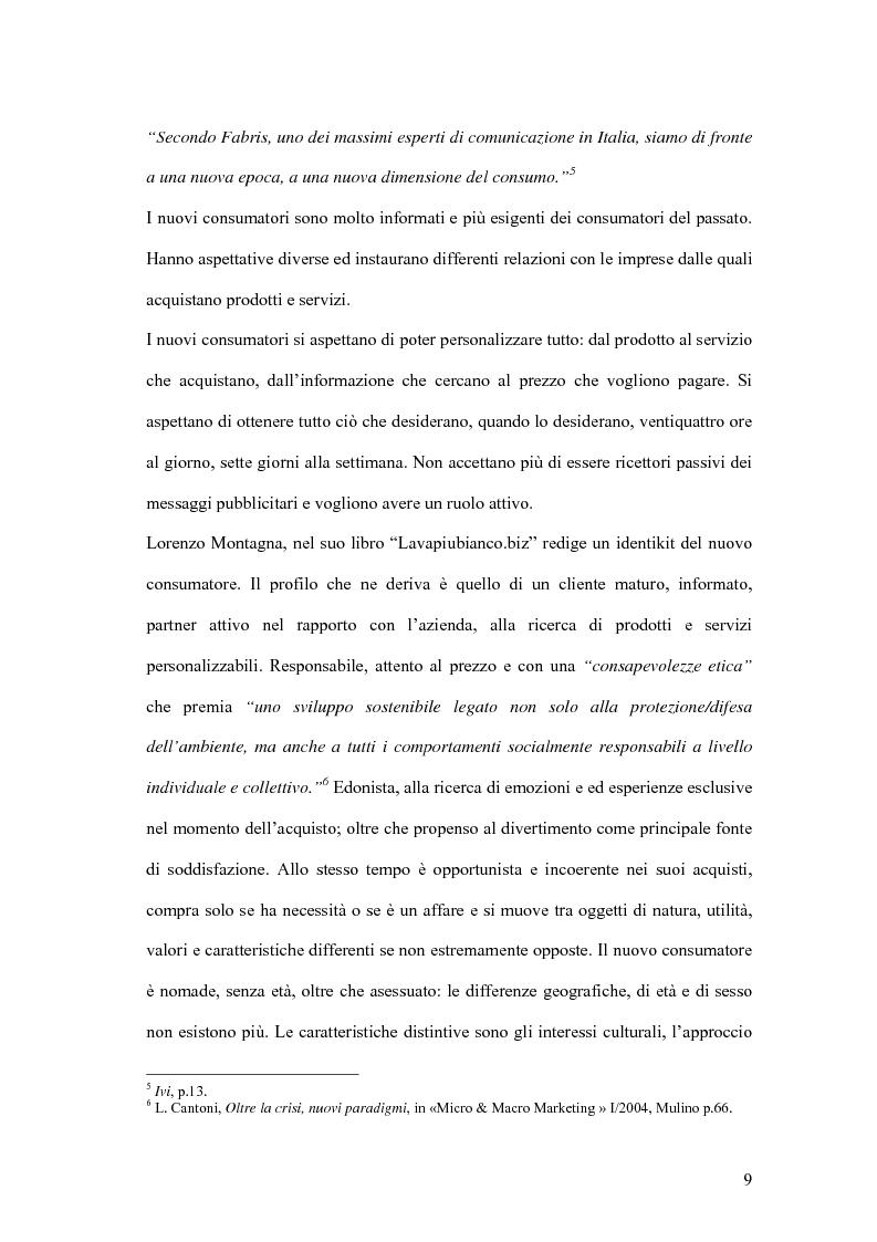Anteprima della tesi: Nuove forme di comunicazione pubblicitaria su mezzi non tradizionali, Pagina 6
