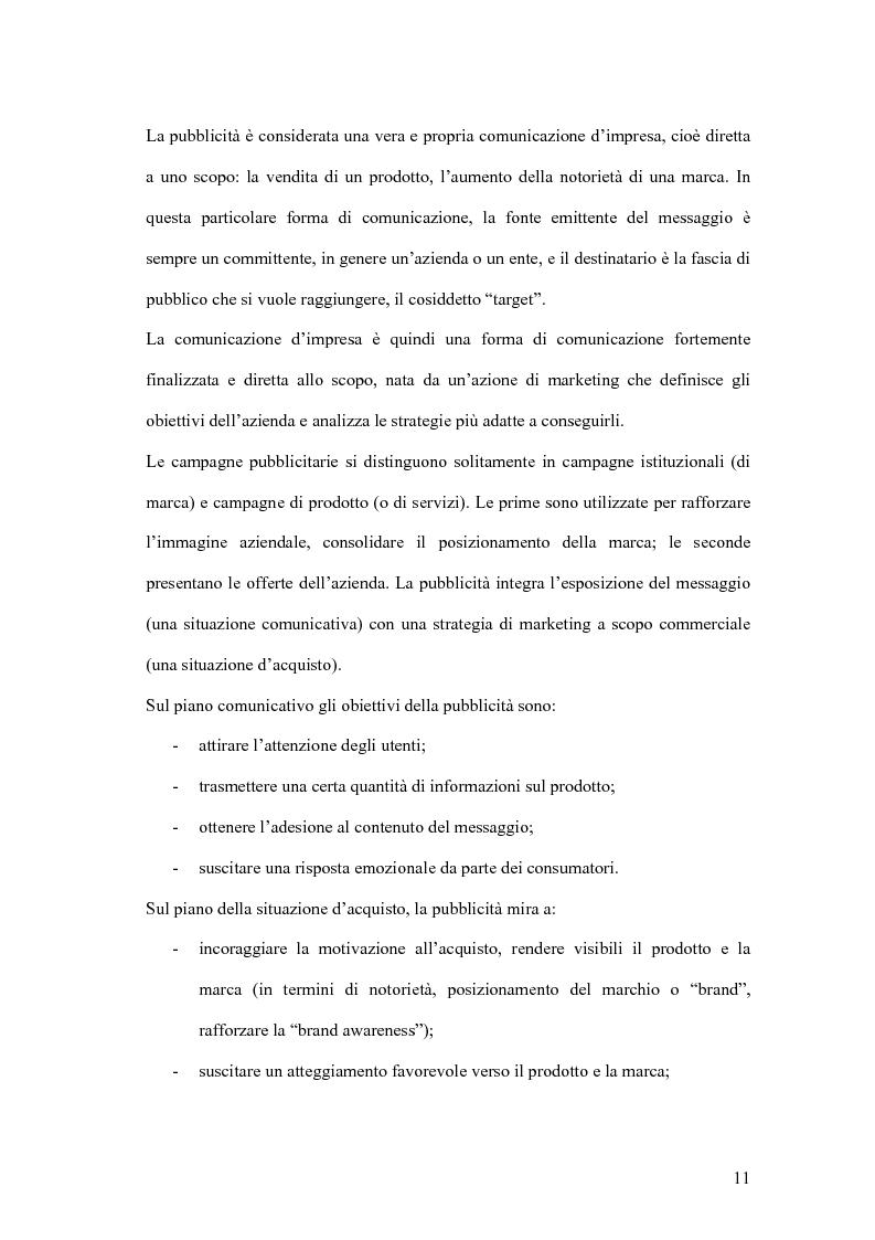 Anteprima della tesi: Nuove forme di comunicazione pubblicitaria su mezzi non tradizionali, Pagina 8