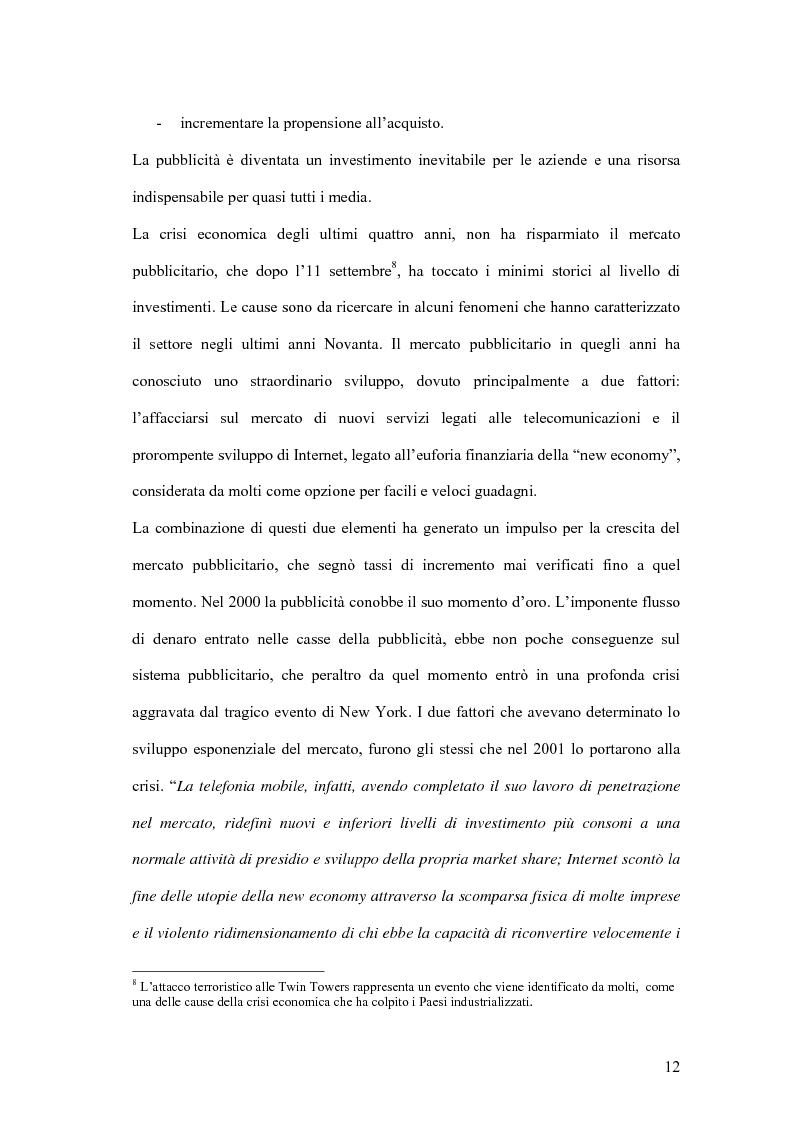 Anteprima della tesi: Nuove forme di comunicazione pubblicitaria su mezzi non tradizionali, Pagina 9