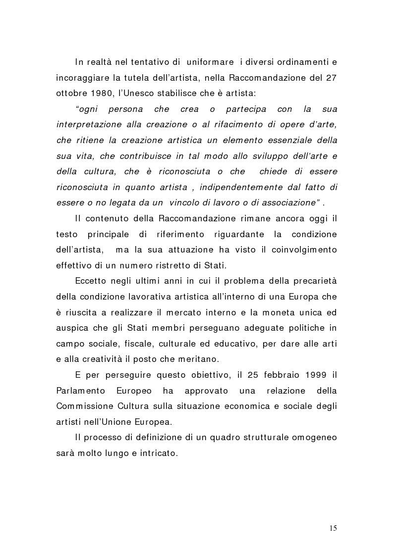 Anteprima della tesi: Artisti e mercati del lavoro: dinamiche occupazionali, Pagina 11