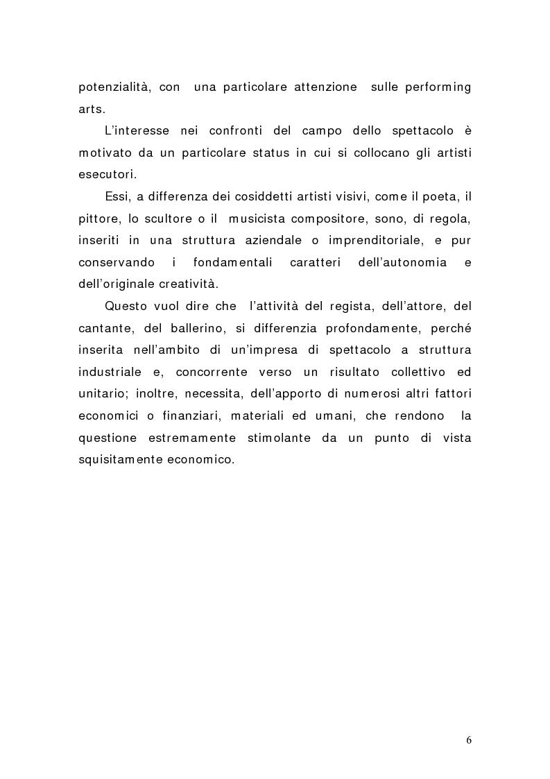 Anteprima della tesi: Artisti e mercati del lavoro: dinamiche occupazionali, Pagina 2