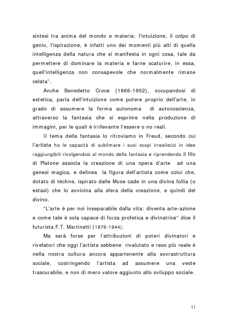 Anteprima della tesi: Artisti e mercati del lavoro: dinamiche occupazionali, Pagina 7