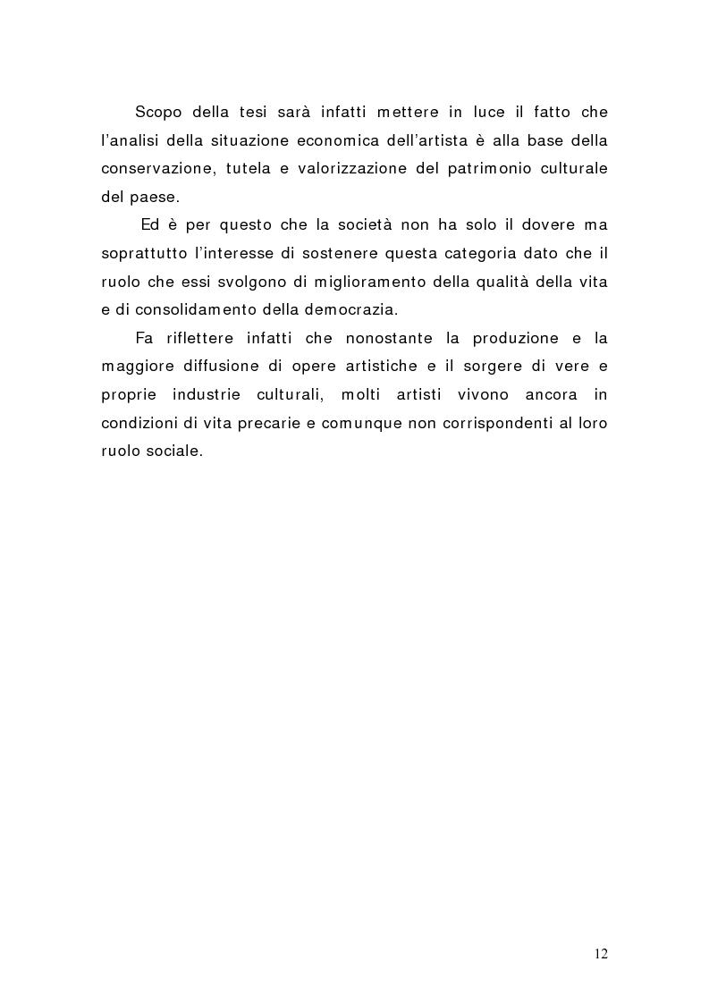 Anteprima della tesi: Artisti e mercati del lavoro: dinamiche occupazionali, Pagina 8