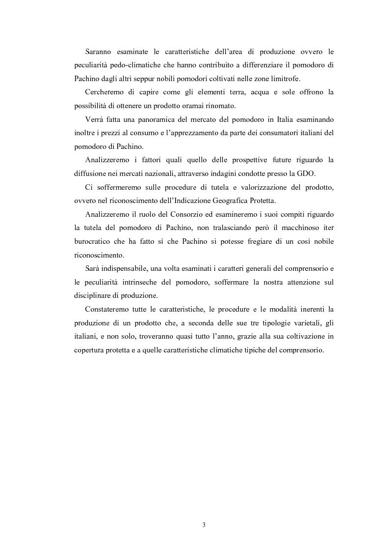Anteprima della tesi: L'Indicazione Geografica Protetta ''Pomodoro di Pachino'', Pagina 2