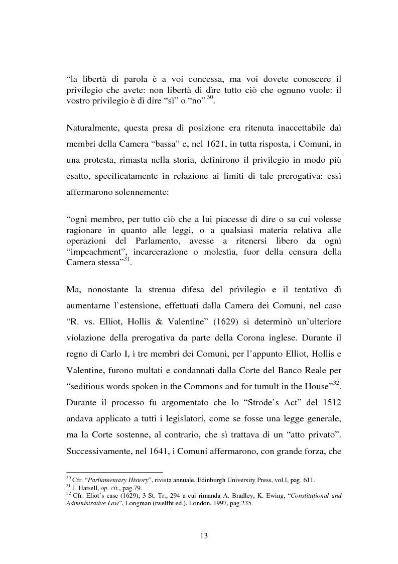 Anteprima della tesi: Le immunità parlamentari nei paesi dell'Unione Europea, Pagina 10