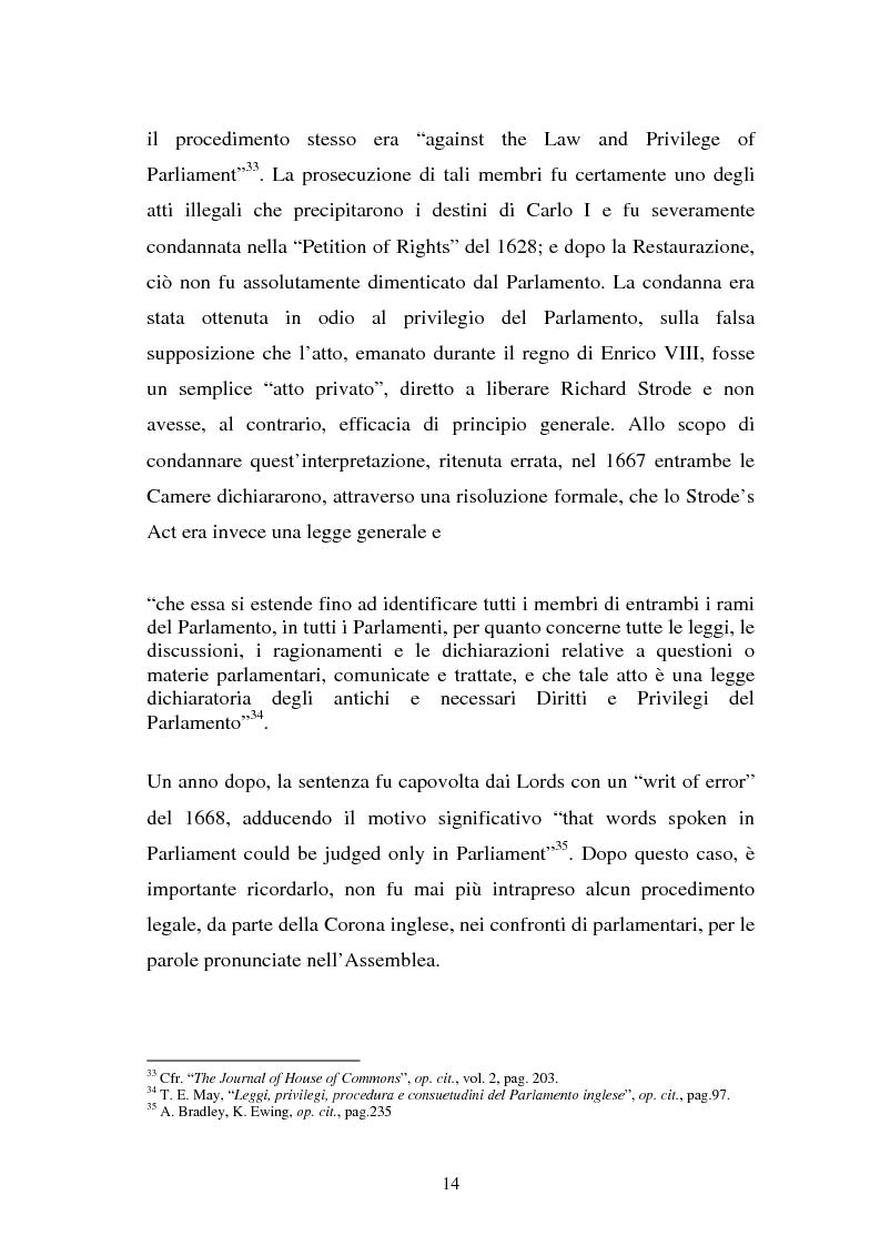 Anteprima della tesi: Le immunità parlamentari nei paesi dell'Unione Europea, Pagina 11