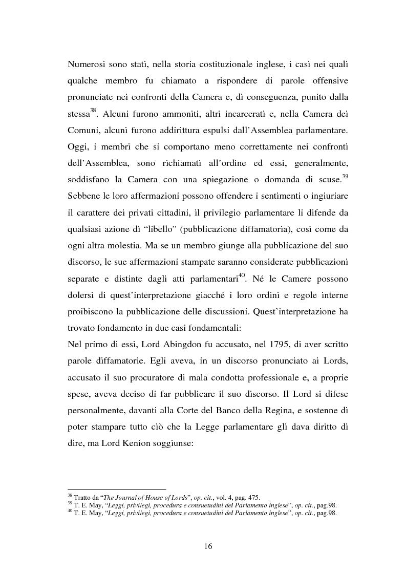 Anteprima della tesi: Le immunità parlamentari nei paesi dell'Unione Europea, Pagina 13
