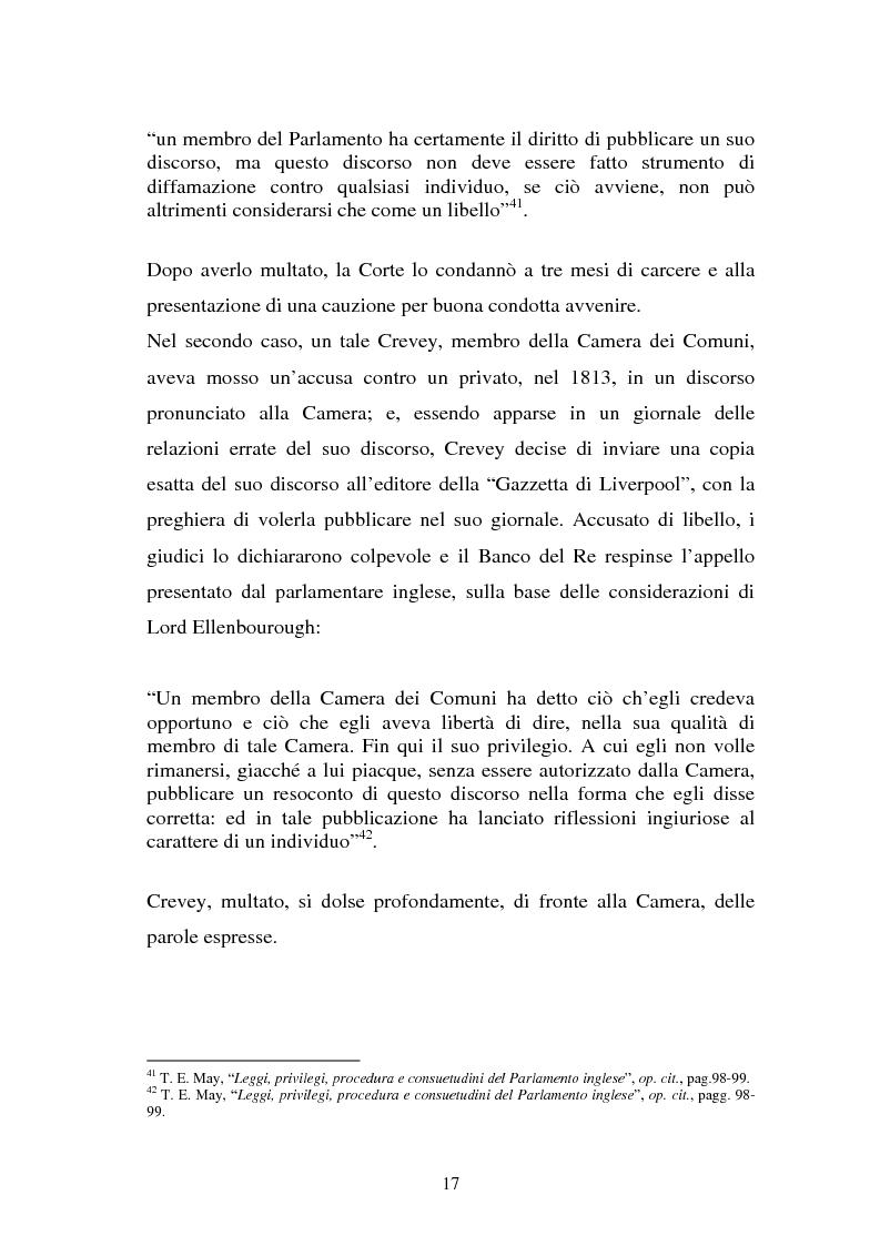 Anteprima della tesi: Le immunità parlamentari nei paesi dell'Unione Europea, Pagina 14